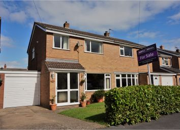 Thumbnail 3 bed semi-detached house for sale in Burnell Close, Bayston Hill, Shrewsbury
