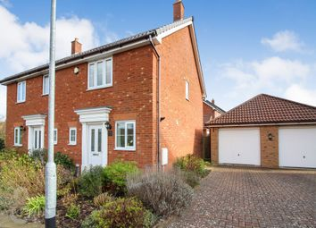 Thumbnail 2 bed semi-detached house for sale in Evora Road, Wymondham
