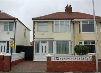 Thumbnail 3 bed semi-detached house to rent in Ventnor Road, Blackpool
