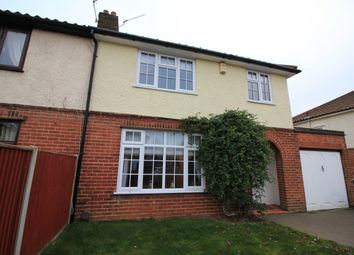 Thumbnail 3 bedroom semi-detached house to rent in Overbury, Hellesdon