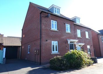 Thumbnail 3 bed semi-detached house for sale in Croydon Close, Church Gresley