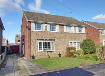 Thumbnail 3 bed semi-detached house for sale in Meadow Close, Thorpe Willoughby, Selby