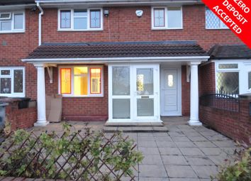 Thumbnail 3 bed terraced house to rent in Chester Road, Kingshurst, Birmingham