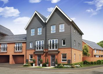 "Thumbnail 4 bedroom end terrace house for sale in ""Faversham"" at Countess Way, Broughton, Milton Keynes"