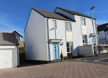 Thumbnail 3 bed semi-detached house for sale in Carnjewey Way, St. Austell