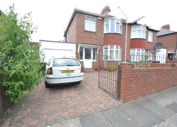 Thumbnail 3 bed semi-detached house for sale in Cliftonville Avenue, Newcastle Upon Tyne