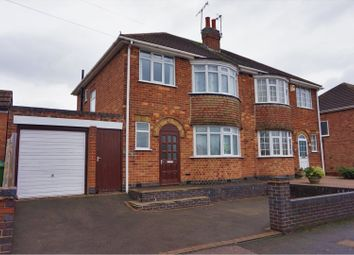 Thumbnail 3 bedroom semi-detached house for sale in Kingsway North, Leicester