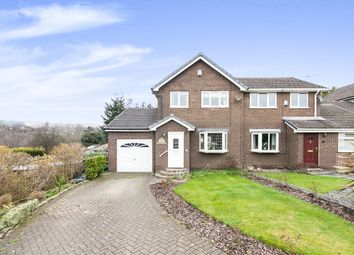 Thumbnail 3 bed semi-detached house for sale in The Croft, Hadfield, Glossop