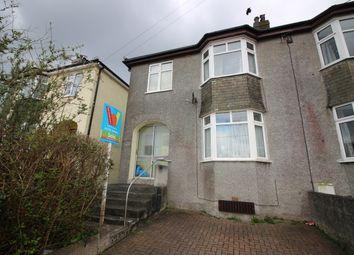 Thumbnail 3 bed semi-detached house for sale in Belle Vue Road, Saltash