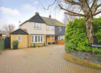 Thumbnail 4 bed semi-detached house for sale in Birchlands, The Warren, Radlett, Hertfordshire