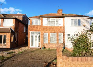 Thumbnail 3 bedroom semi-detached house for sale in Runnymede Gardens, Western Avenue, Greenford