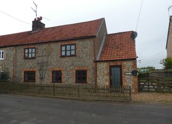 Thumbnail 3 bedroom semi-detached house to rent in Castle Road, Wormegay, King's Lynn