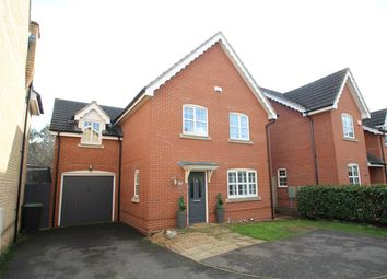Thumbnail 4 bed detached house for sale in Wren Close, Stowmarket