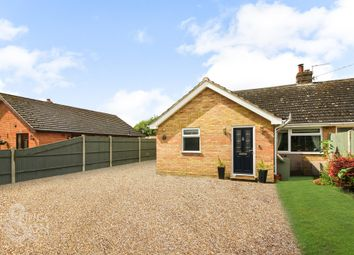 Thumbnail 4 bed semi-detached bungalow for sale in The Street, Tivetshall St. Mary, Norwich