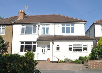 Thumbnail 4 bed semi-detached house for sale in Woodfield Close, Ashtead