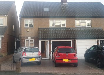 Thumbnail 4 bed semi-detached house to rent in Tabrums Way, Upminster