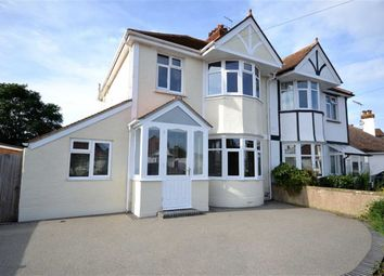 Thumbnail 4 bed semi-detached house for sale in Charmandean Road, Broadwater, Worthing, West Sussex