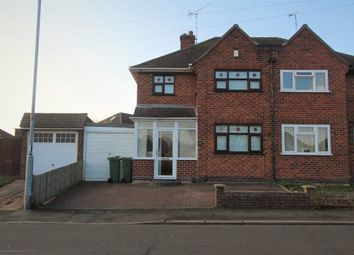 Thumbnail 3 bedroom semi-detached house to rent in Kingsway, Leicester