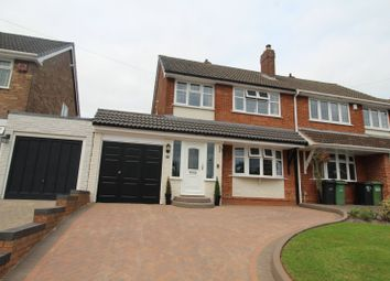 Thumbnail 3 bed semi-detached house for sale in Longfellow Road, The Straits, Lower Gornal, Dudley, West Midlands