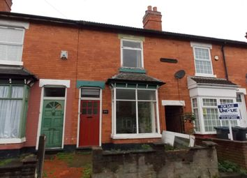 Thumbnail 2 bed terraced house for sale in Solihull Road, Sparkhill, Birmingham
