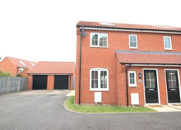 Thumbnail 3 bed semi-detached house for sale in Jeckyll Road, Wymondham