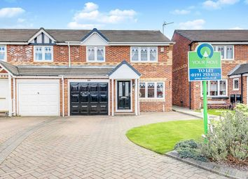 Thumbnail 3 bed semi-detached house to rent in The Wynd, Forest Hall, Newcastle Upon Tyne