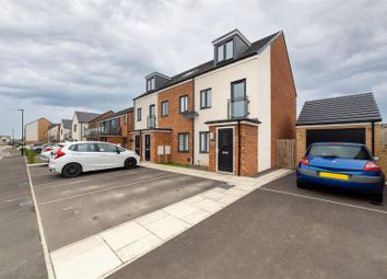 Thumbnail 3 bed town house for sale in Orangetip Gardens, Great Park, Newcastle Upon Tyne