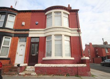 Thumbnail 3 bed end terrace house to rent in Rathbone Road, Wavertree, Liverpool, Merseyside