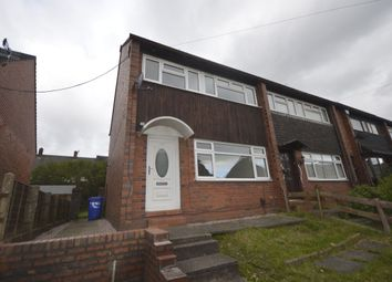 Thumbnail 3 bedroom semi-detached house to rent in Tiverton Road, Bentilee, Stoke-On-Trent