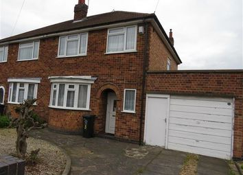 Thumbnail 3 bed semi-detached house to rent in Brancaster Close, Leicester