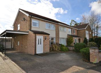 Thumbnail 3 bed semi-detached house for sale in North Park, Fakenham, Norfolk.