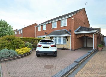 Thumbnail 4 bed semi-detached house for sale in Gurney Crescent, Littlethorpe, Leicester