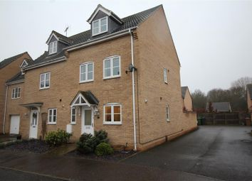 Thumbnail 4 bedroom end terrace house for sale in East Of England Way, Orton Northgate, Peterborough
