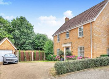 Thumbnail 4 bed detached house for sale in Burroughs Way, Wymondham
