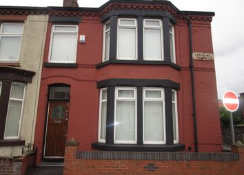Thumbnail 3 bed terraced house to rent in Lynholme Road, Liverpool