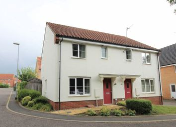 Thumbnail 3 bed semi-detached house for sale in Pump House Close, Queens Hill, Costessey