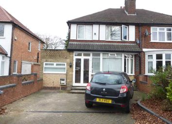 Thumbnail 3 bed semi-detached house to rent in Delrene Road, Shirley, Solihull
