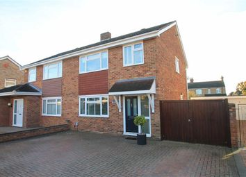 Thumbnail 3 bed semi-detached house for sale in Salcombe Close, Bedford