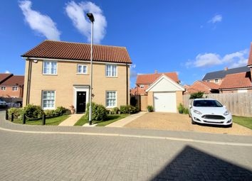 Thumbnail 3 bed detached house for sale in Durrell Way, North Walsham