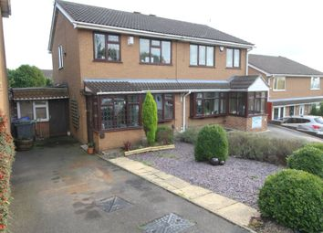 Thumbnail 3 bed semi-detached house for sale in Rowanburn Close, Stoke-On-Trent