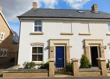 Thumbnail 3 bed semi-detached house for sale in Faraday Gardens, Stotfold, Hitchin