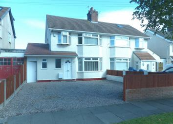 Thumbnail 3 bed semi-detached house for sale in Teehey Lane, Bebington, Wirral