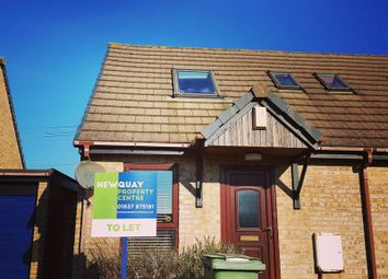Thumbnail 1 bedroom semi-detached house to rent in Quintrell Gardens, Quintrell Downs, Newquay
