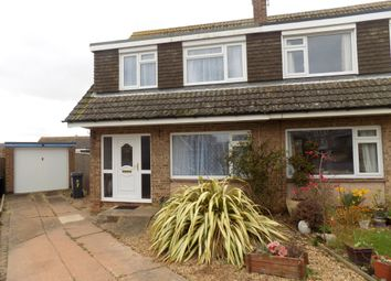 Thumbnail 3 bedroom semi-detached house for sale in Richards Close, Exmouth, Devon