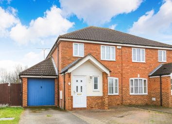 Thumbnail 3 bed semi-detached house for sale in School Lane, Stewartby, Bedford