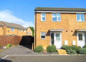 Thumbnail 2 bed semi-detached house for sale in Llys Tre Dwr, Waterton, Bridgend, Bridgend County.