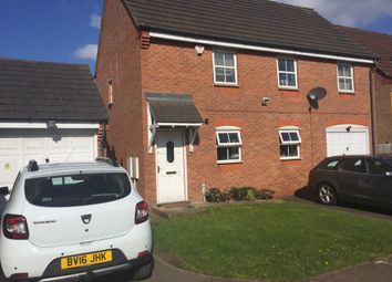 Thumbnail 3 bed end terrace house to rent in St David's Drive, Wednesbury, West Midlands