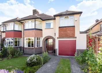 Thumbnail 4 bedroom semi-detached house for sale in Newbury Gardens, Stoneleigh, Epsom