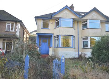 Thumbnail 3 bedroom semi-detached house for sale in Peaslands Road, Sidmouth, Devon