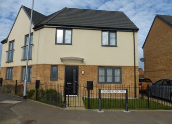 Thumbnail 3 bed semi-detached house for sale in Chamberlain Way, Gunthorpe, Peterborough